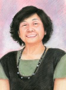 お母様の色鉛筆肖像画