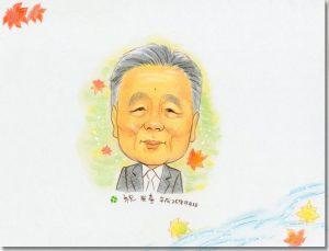 米寿の似顔絵 寄せ書き色紙